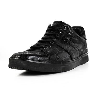 Gucci Size 9.5 Black Monogram Sneakers