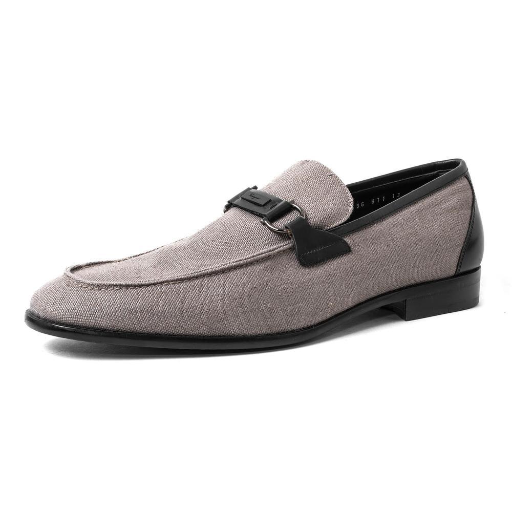 Salvatore Ferragamo Size 13 Horsebit Canvas Loafers