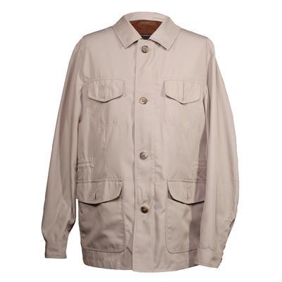 Canali Size 5 Tan Utility Jacket
