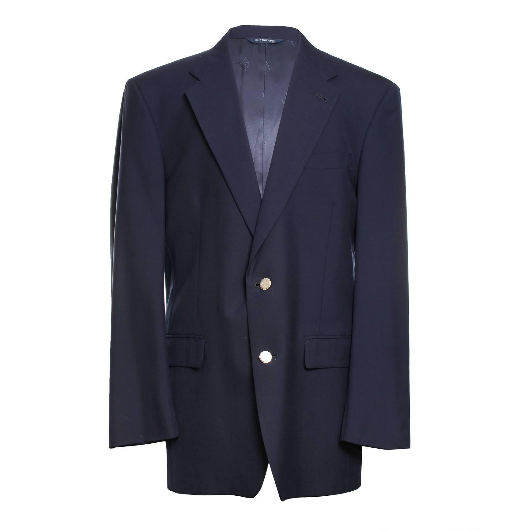 Vintage Burberrys Size 40 Navy Two Button Sport Coat