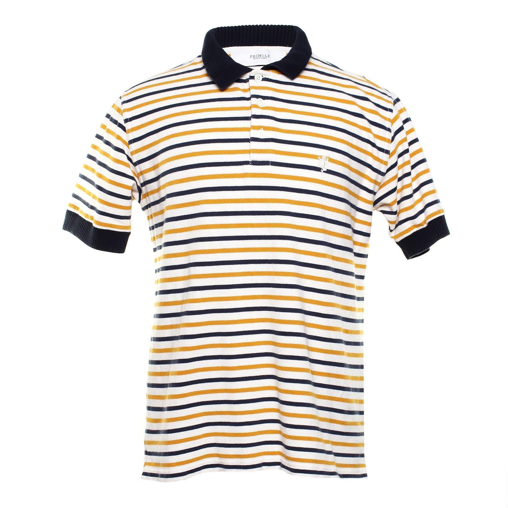 Pringle Of Scotland Size Medium Stripe Polo