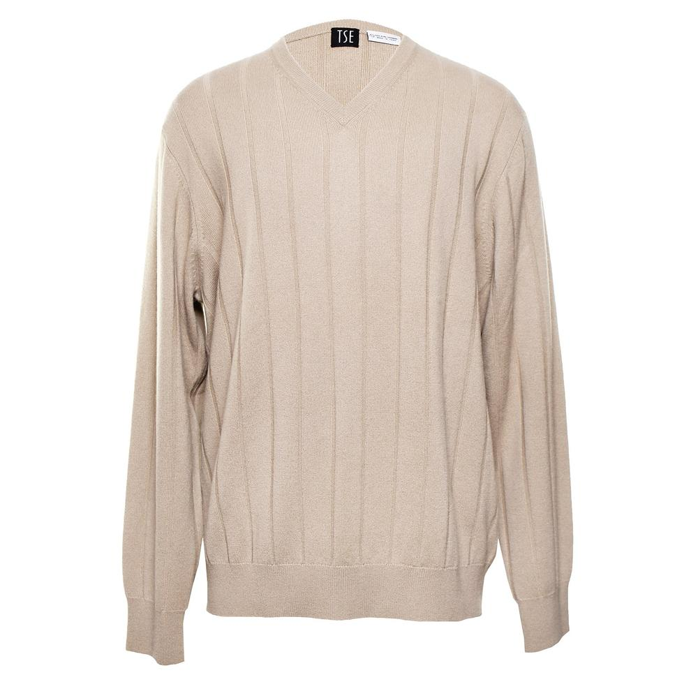 Tse Size Large Tan Cashmere Sweater
