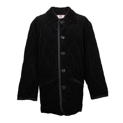 Burberry Size XL Black Corduroy Jacket