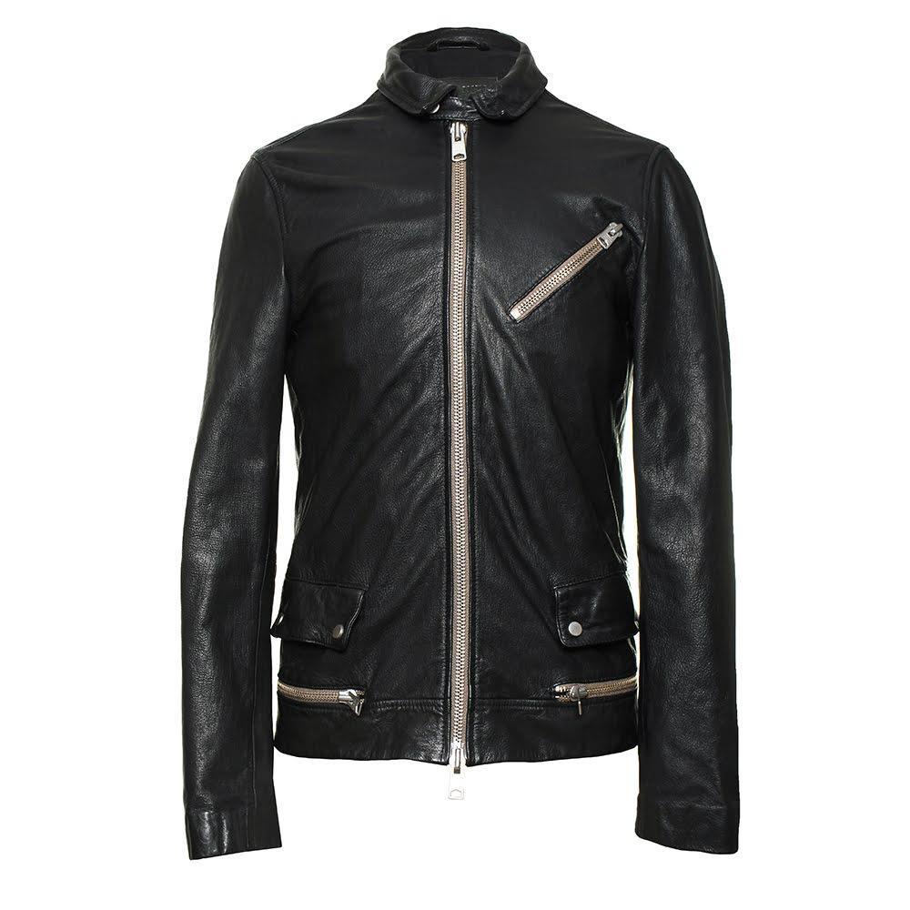 All Saints Size Small Black Leather Moto Jacket
