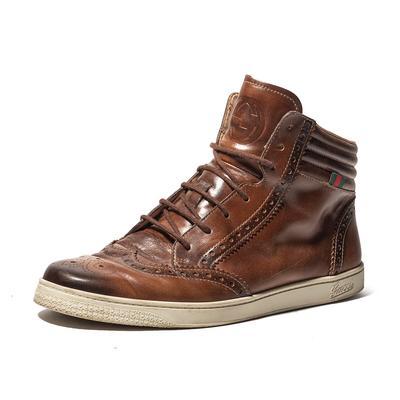 Gucci Size 9.5 'Coda' Brogue High Top Sneaker