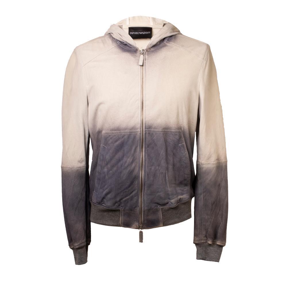 Emporio Armani Size 36 Leather Hoodie