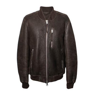 AllSaints Size XL 'Kemble' Suede Bomber Jacket