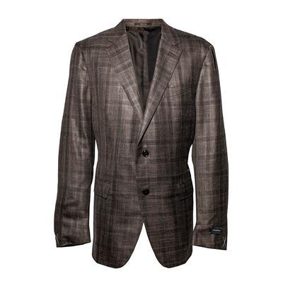 Ermenegildo Zenga Size 46 Plaid Sport Coat