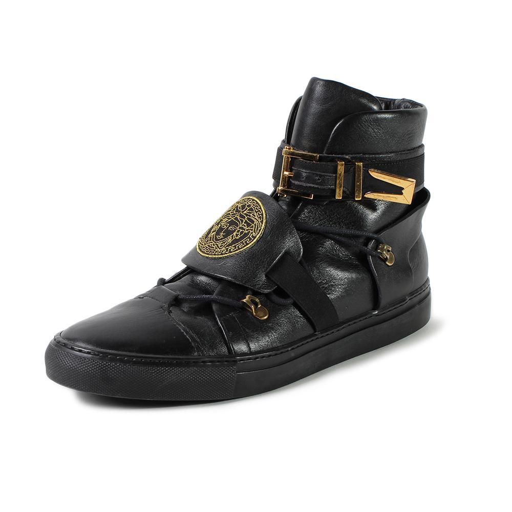 Versace Size 9.5 Medusa High Top Sneakers