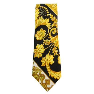 Vintage White Versace Tie