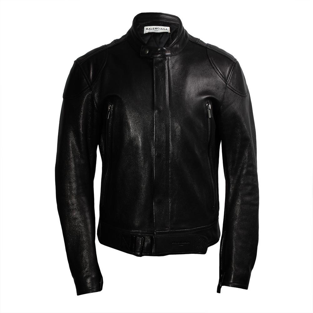 Balenciaga Size 40 Moto Jacket